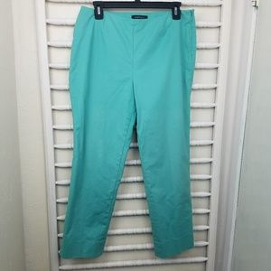 Lafayette 148 Teal Cropped Ankle Pants 8